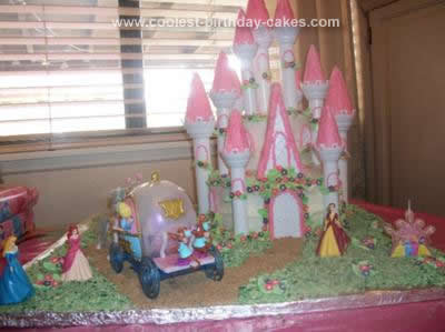 I Looked For Ideas On This Website And Seen Disney Princess Castle Cake Bought The Romantic Kit From Walmart