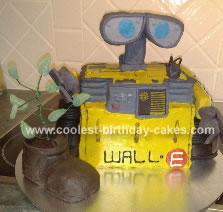 Homemade Disney's Wall-E Birthday Cake