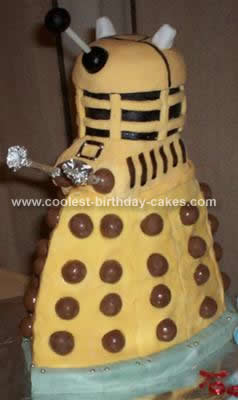 Homemade Doctor Who  Darlik Birthday Cake