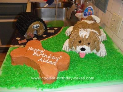 Homemade  Dog and Bone Cake