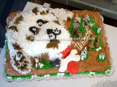 Amazing Sweet Homemade Dog Face Birthday Cake Personalised Birthday Cards Paralily Jamesorg