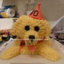 Homemade Bichon Frise Dog Birthday Cake