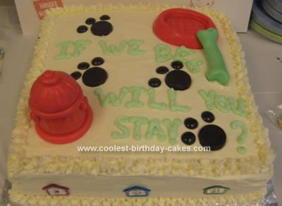 Homemade Dog Gone Cake