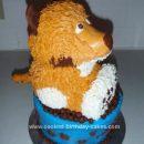 Homemade Dog In Bowl Birthday Cake