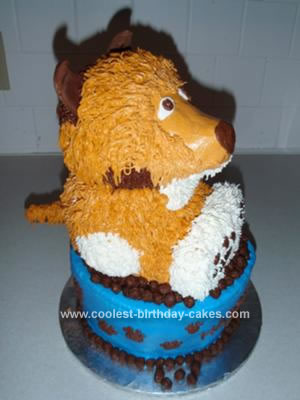 Homemade Dog In Bowl Birthday Cake