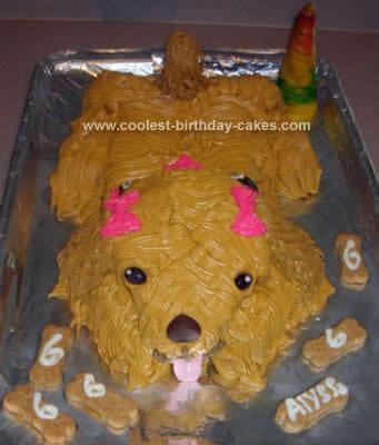 Homemade Doggy Birthday Cake