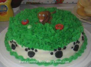 Homemade Doggy Paw Cake
