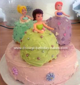 Homemade Doll Dress Cake