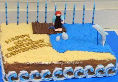 Homemade Dolphin Birthday Cake