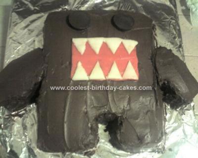 Homemade Domo Birthday Cake