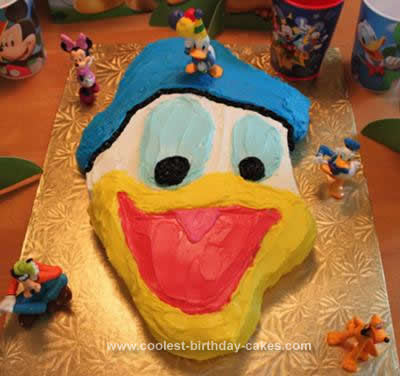 Astonishing Coolest Donald Duck Birthday Cake Personalised Birthday Cards Paralily Jamesorg