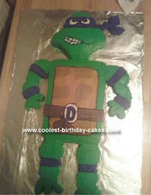 Homemade Donatello Birthday Cake