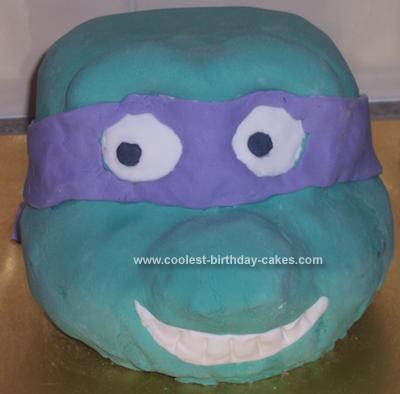 Homemade Donatello Cake