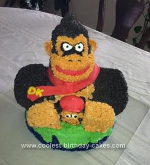 Fine Coolest Donkey Kong Cake Funny Birthday Cards Online Amentibdeldamsfinfo