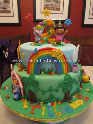 Coolest Dora 2nd Birthday Cake