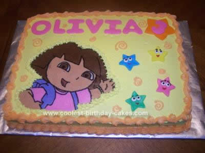 Enjoyable Coolest Dora Birthday Cake Design Birthday Cards Printable Nowaargucafe Filternl