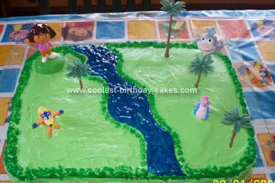 Homemade Dora Cake