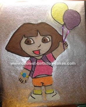 Dora with Balloons