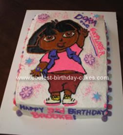 Homemade Dora Cake