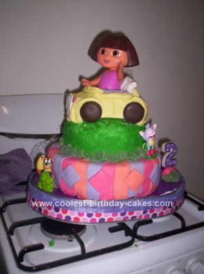 Homemade Dora Cake Idea