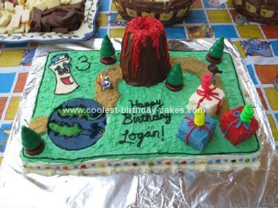 Homemade Dora Map Cake