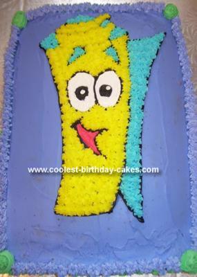 Homemade Dora Pal Map Birthday Cake
