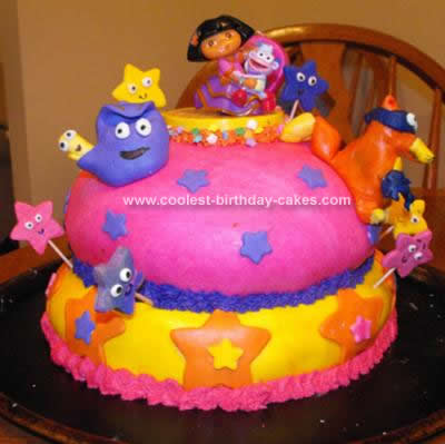 Tremendous Coolest Dora The Explorer Birthday Cake Funny Birthday Cards Online Alyptdamsfinfo