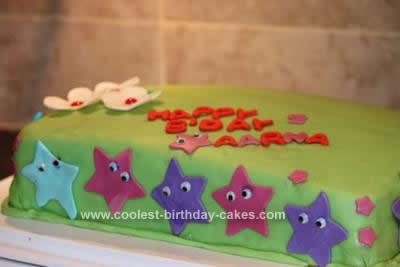 Homemade Dora the Explorer Birthday Cake