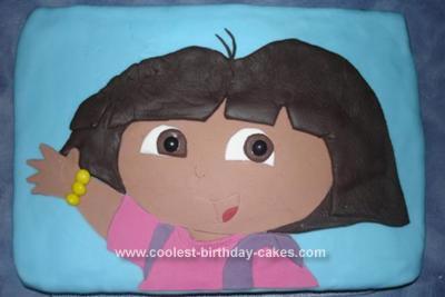 Homemade Dora the Explorer Cake