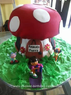 Homemade Dora Toadstool Cake
