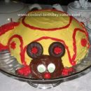 Homemade Dormouse Under the Teacup for Unbirthday Party Cake
