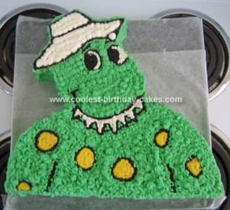 Homemade Dorothy Dinosaur Cake