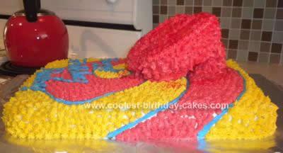 Homemade Dorothy from Wizard of Oz Red Slipper Birthday Cake