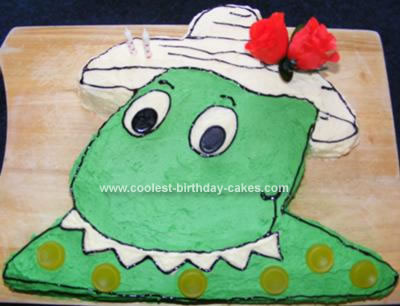 Homemade Dorothy The Dinosaur Birthday Cake