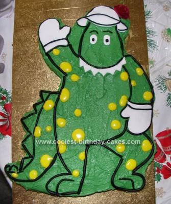 Homemade Dorothy the Dinosaur Cake