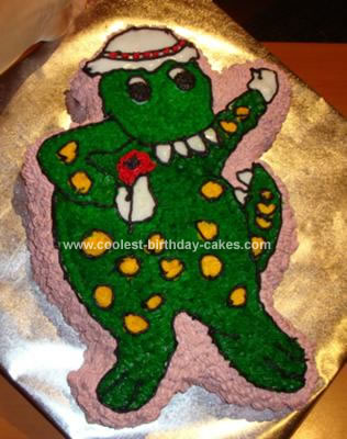 how to make a dinosaur cake at home