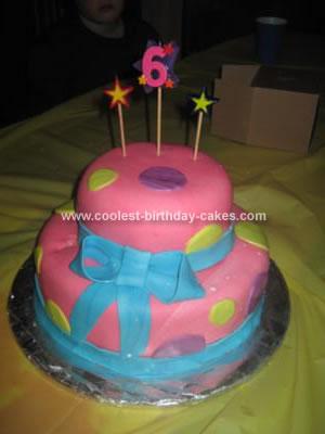 Homemade Dot Birthday Cake