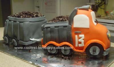 Homemade Double Dump Truck Cake