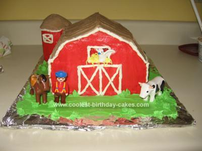 Homemade Down on the Farm Cake