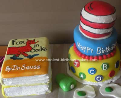 Wondrous Cool Homemade Dr Seuss 1St Birthday Cake Design Funny Birthday Cards Online Aeocydamsfinfo