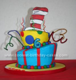 Homemade Dr. Seuss Birthday Cake