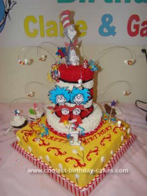 Homemade Dr Seuss Birthday Cake