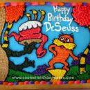 Homemade Dr. Seuss Birthday Cake Design