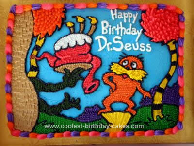 Peachy Cool Homemade Dr Seuss Birthday Cake Design Funny Birthday Cards Online Aboleapandamsfinfo
