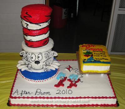 Homemade Dr Seuss Cake