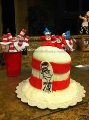 Homemade Dr. Seuss Cake Birthday Cake