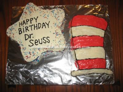 Homemade  Dr. Seuss Cat in the Hat Cake