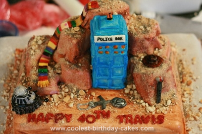 Homemade Dr Who Birthday Cake
