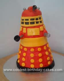 Homemade Dr Who Dalek Birthday Cake