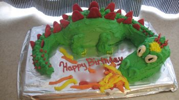 Homemade Dragon Birthday Cake